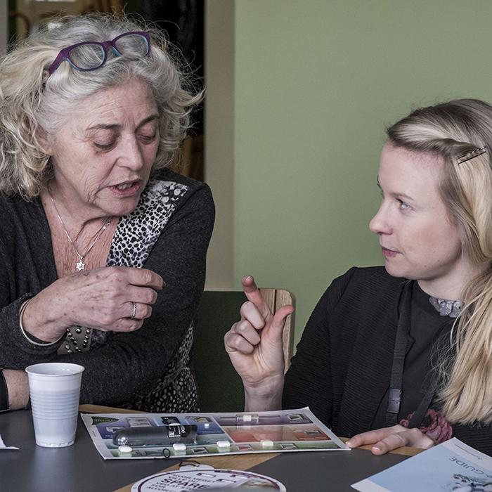 Rygestopkursus samtale mellem rådgiver og klient